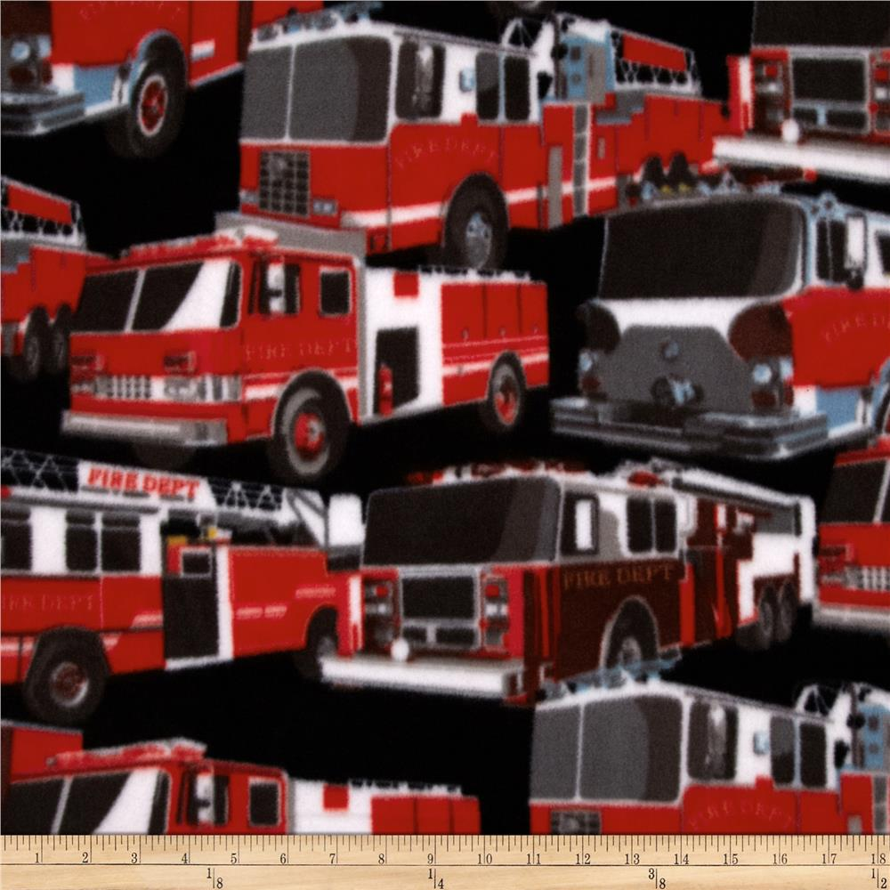 Winter Fleece Fire Trucks Multi
