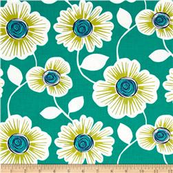 Michael Miller Uptown Urban Julie Teal Fabric