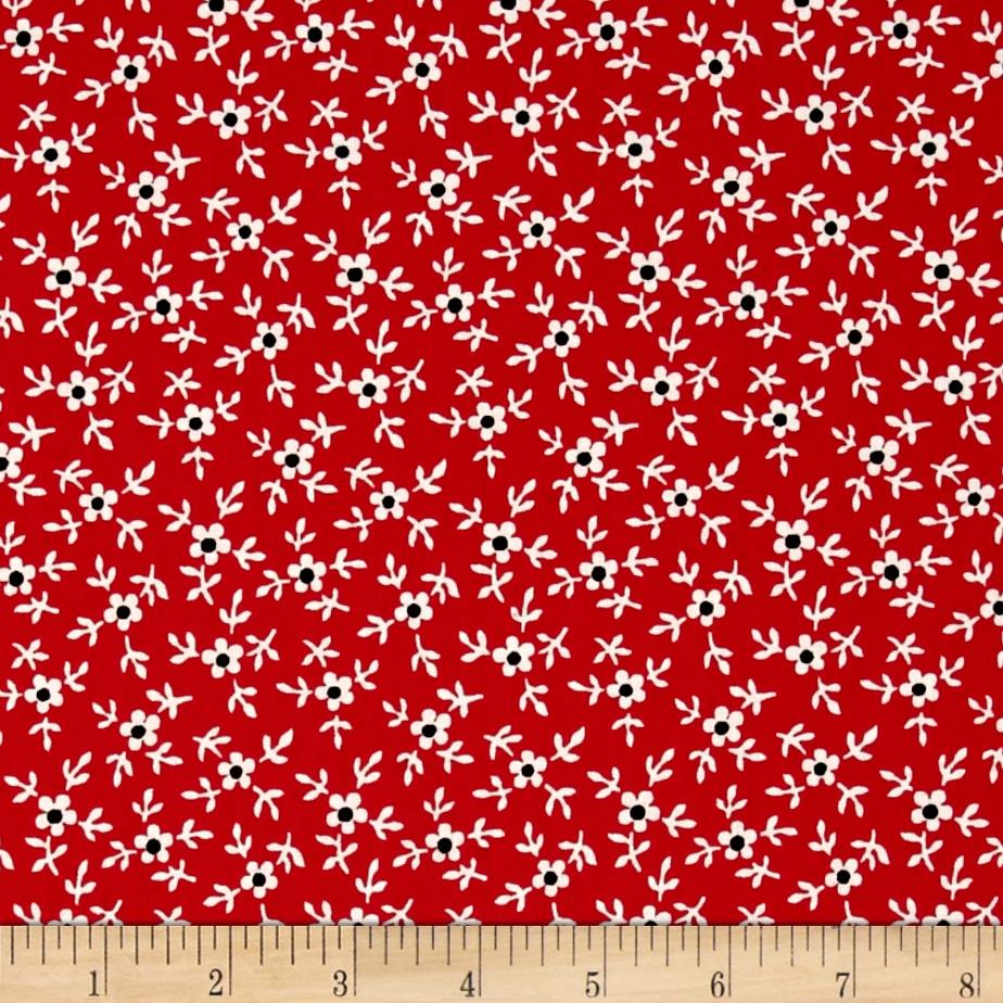 Windsong Mini Floral Red
