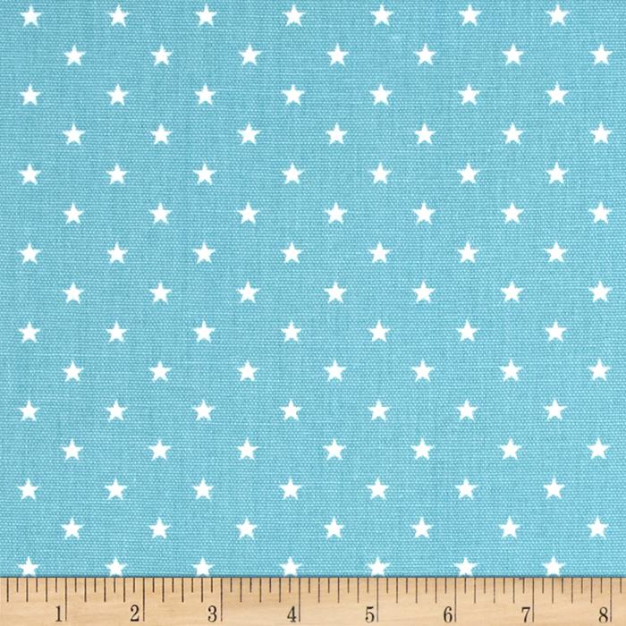 Premier Prints Mini Stars Coastal Blue/White