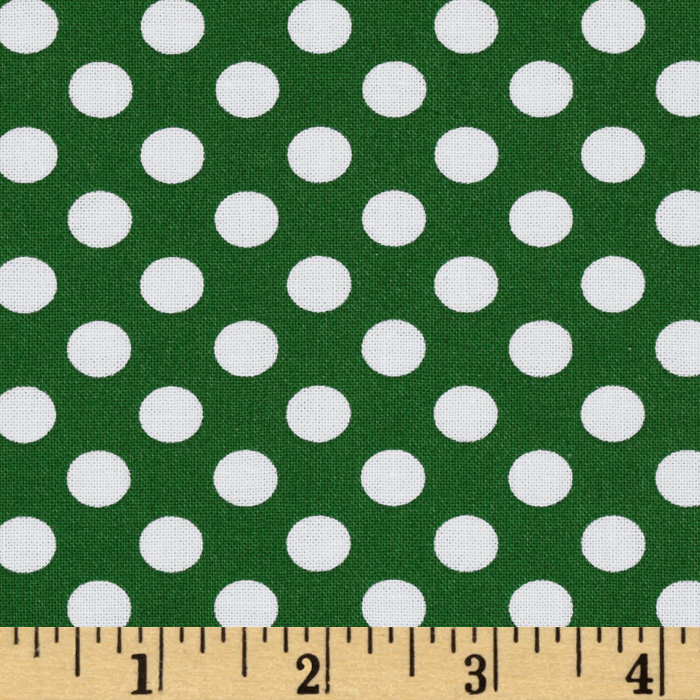 Kaufman Spot On Medium Dot Grass Fabric