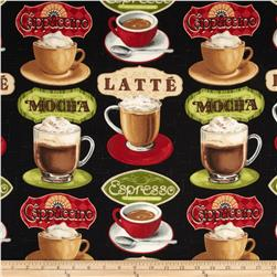 Coffee Moment Coffee Cups & Labels Black