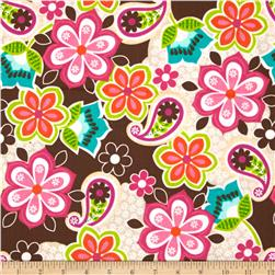 Peralta Large Floral Paisley Brown