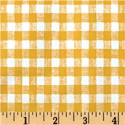 Vinyl Gingham Yellow