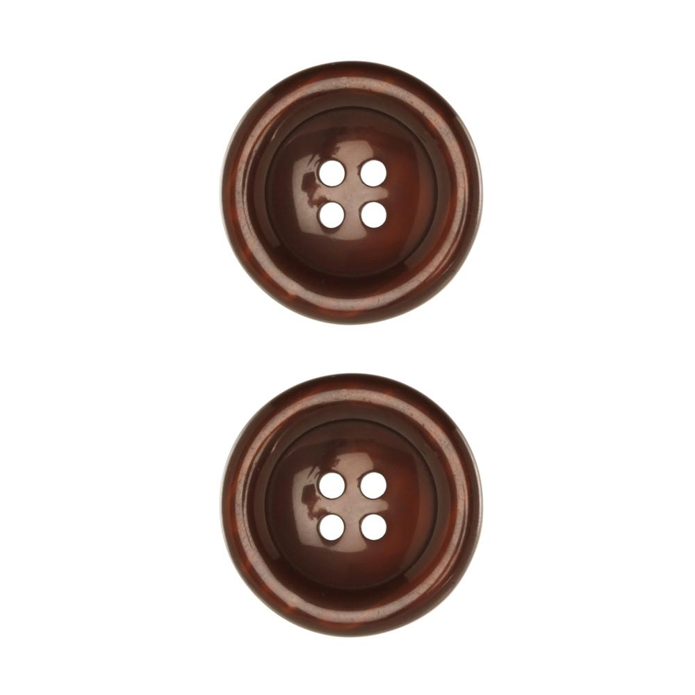 "Riley Blake Sew Together 1 1/2"" Pearl Button Brown"