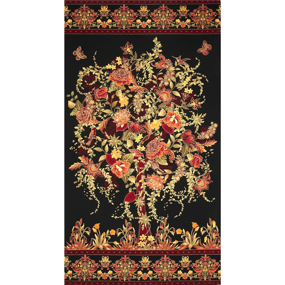 Tree of Life Eden Metallic Panel Floral Spice