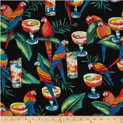 Hoffman Tropicals Margarita Paradise Black Fabric