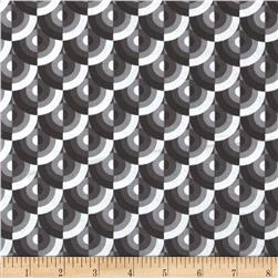 Zest Pearlescent Slices Gray Fabric
