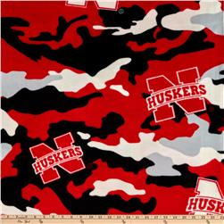 University of Nebraska Fleece Camo Red