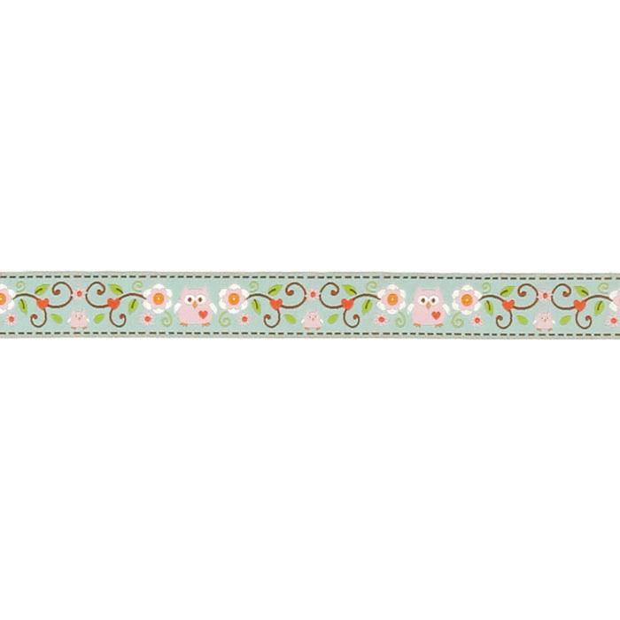 "7/8"" Dena Designs Happi Owls Ribbon Pink"