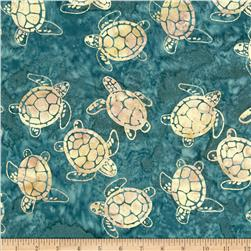 Michael Miller Batik Sea Turtles Teal