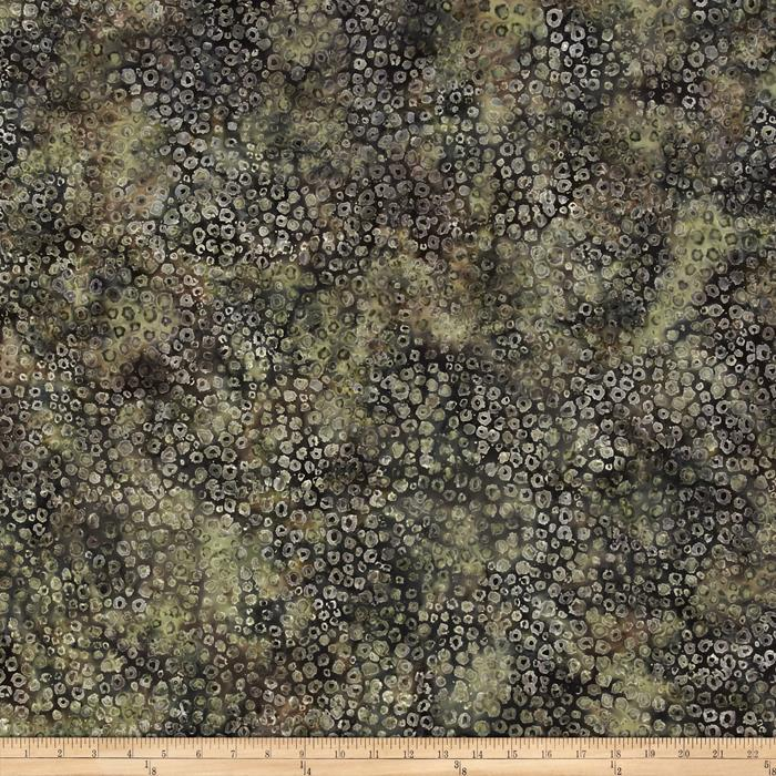 Bali Batiks Handpaints Static Dots Stone Green