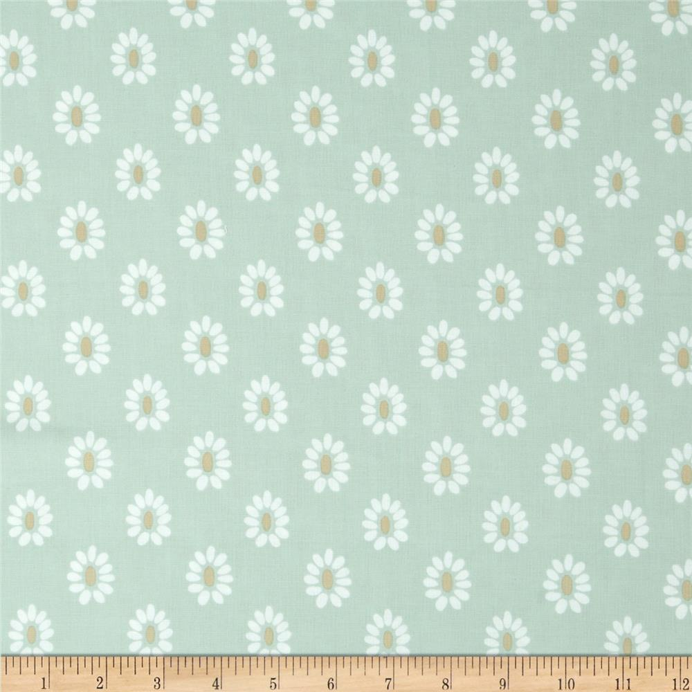 Joyful Flower Head Light Teal