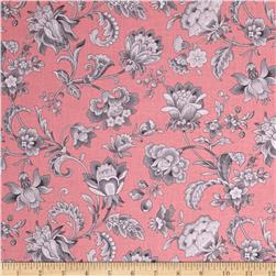 Gracious Skies Jacoban Floral Coral/Grey