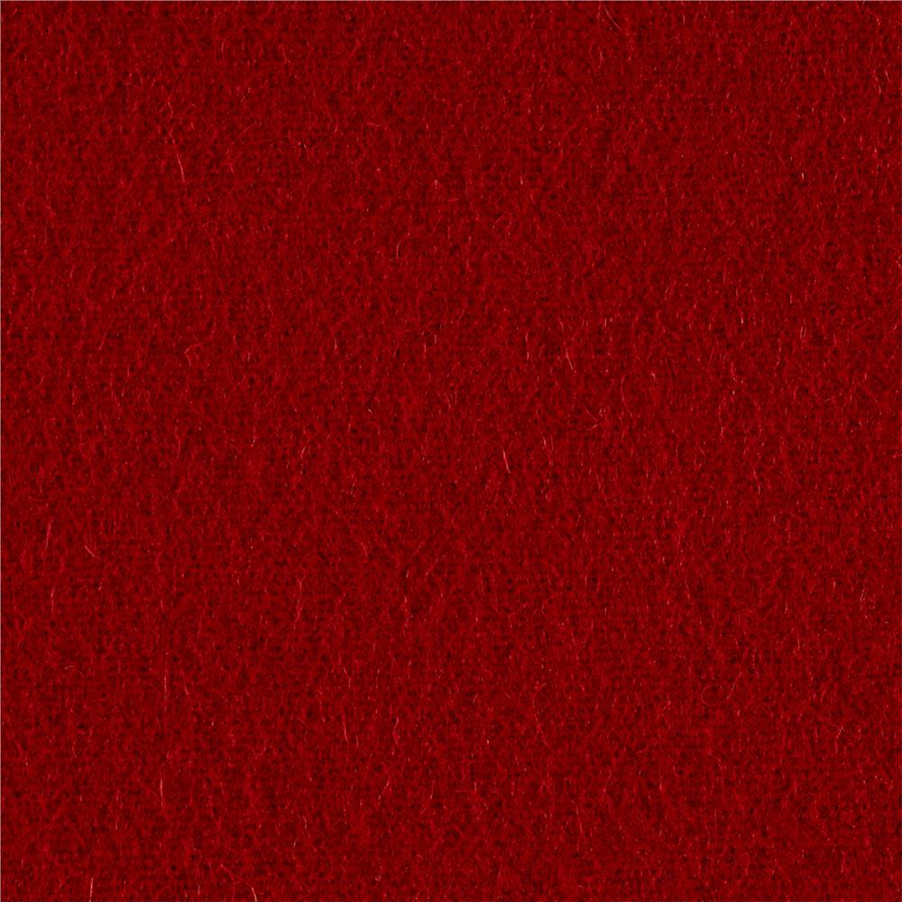 The Season Wool Collection Wool Melton Pomegranate