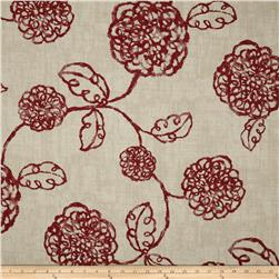 Magnolia Home Fashions Adele Crimson Fabric