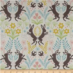 Lewis and Irene Spring Hare Hares and Flowers Cream