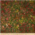 Timeless Treasures Tonga Batik Sunburst Poppy Field Vine