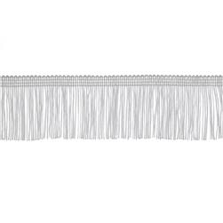 2'' Chainette Fringe Trim White