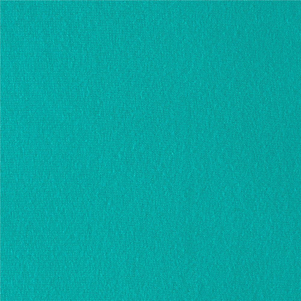 Rayon Jersey Knit Solid Turquoise Fabric