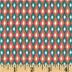 Holiday Sweet Tweets Argyle Retro Fabric