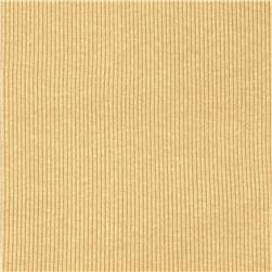 Basic Cotton Rib Knit Light Tan