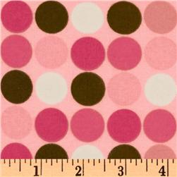 Cozy Cotton Flannel Dots Pink