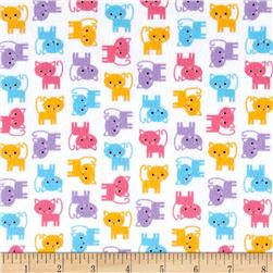 Kaufman Urban Zoologie Minis Flannel Little Cats Sweet
