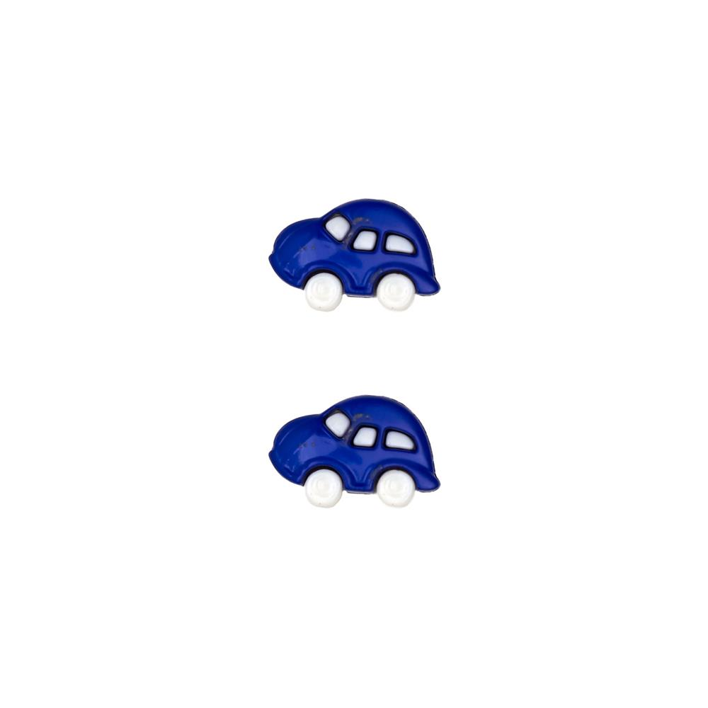 Dill Novelty Button 3/4'' Cars Royal Blue