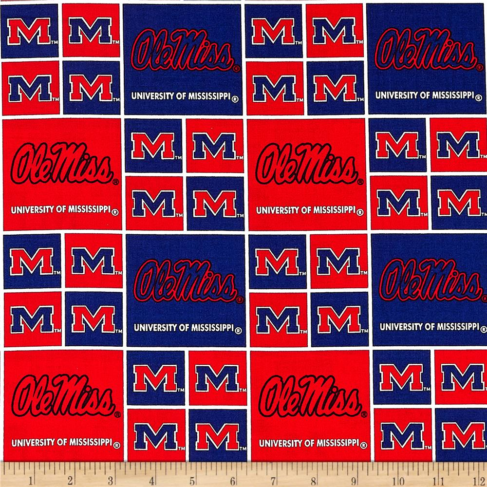 Collegiate Cotton Broadcloth University of Mississippi Red