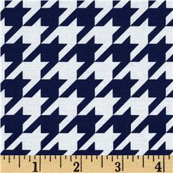Riley Blake Houndstooth Medium Navy