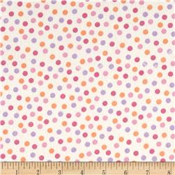 Peek-A-Boo Flannel Dots Cream/Pink
