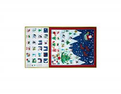 "Frosty Advent Calendar 24"" Panel Multi"