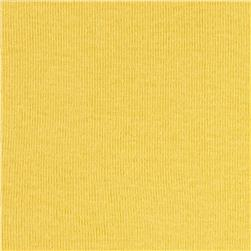 Cotton Baby Rib Knit Solid Sun Yellow