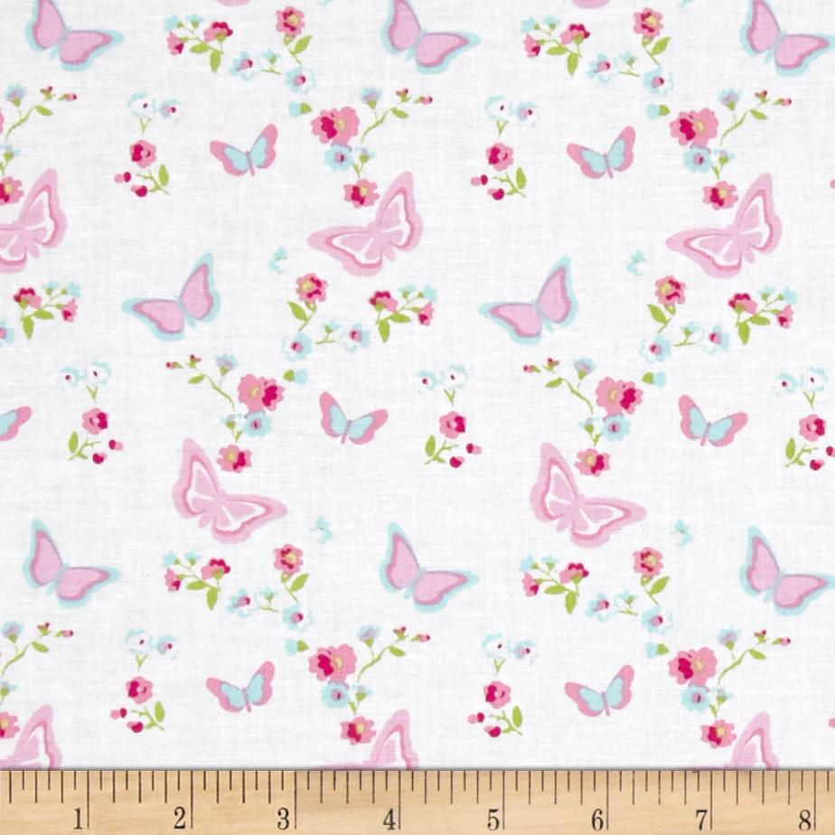 Tanya Whelan Zoey's Garden Butterfly Floral White