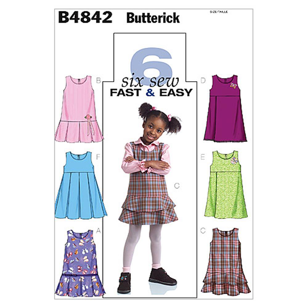 Butterick toddlers 39 children 39 s jumpers pattern b4842 size for Kids pattern fabric