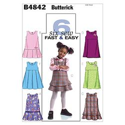 Butterick Toddlers'/Children's Jumpers Pattern B4842 Size CB0