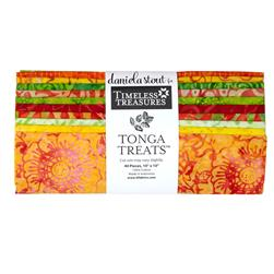 Timeless Treasures Tonga Batik Sunburst 10 In. Squares