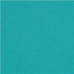 Cotton Jersey Knit Solid Blue Topaz