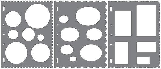 Fiskars Shape Template Circles, Ovals, & Rectangles