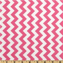 Riley Blake Chevron Small Hot Pink Fabric