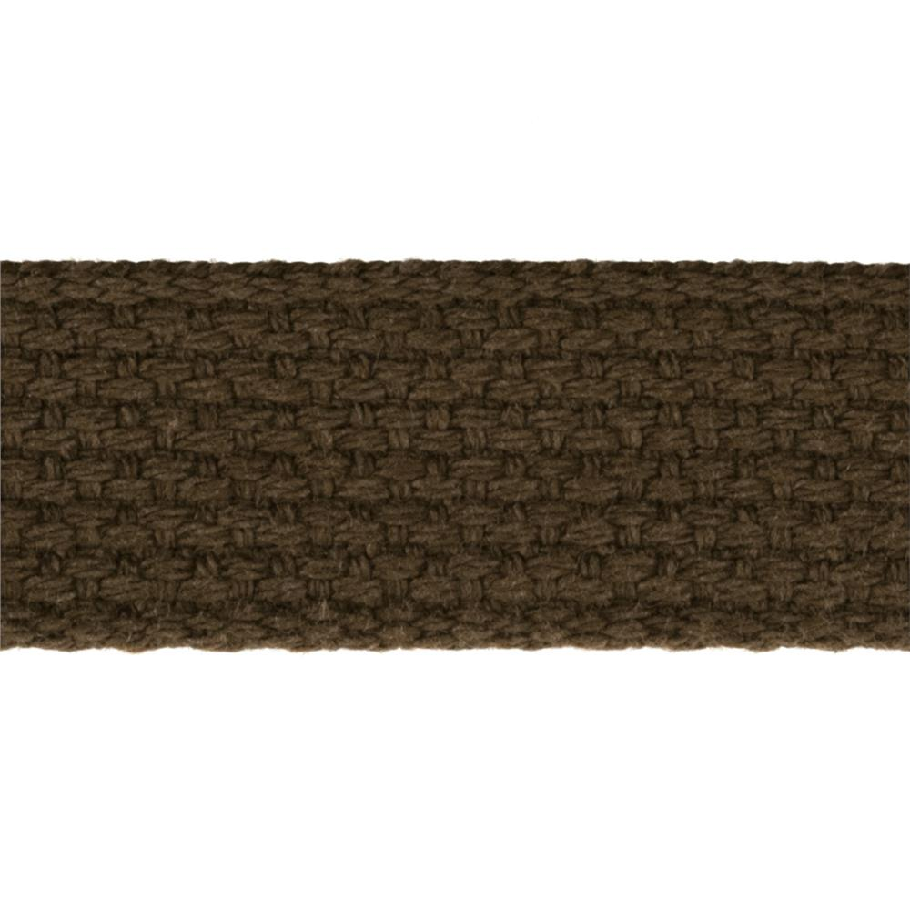 1'' Cotton Webbing Brown
