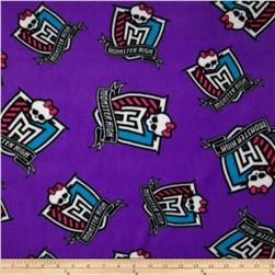 Monster High Fleece Crest Furrocious Purple