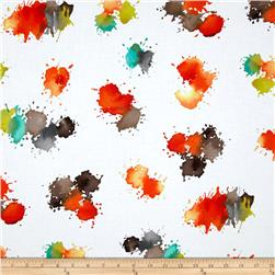 Michael Miller Painterly Color Drops Retro Fabric
