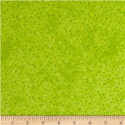 Petite Dots Flannel Lime
