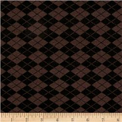 Rihan Jersey Knit Checker Print Brown/Black