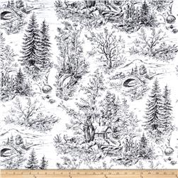 Woodland Forest Forest Scenic Toile White/Black