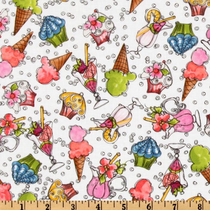 Sunshine Resort  Ice Cream Cones White/Multi