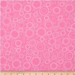 Lazy Little Ladybugs Circle Geometric Pink