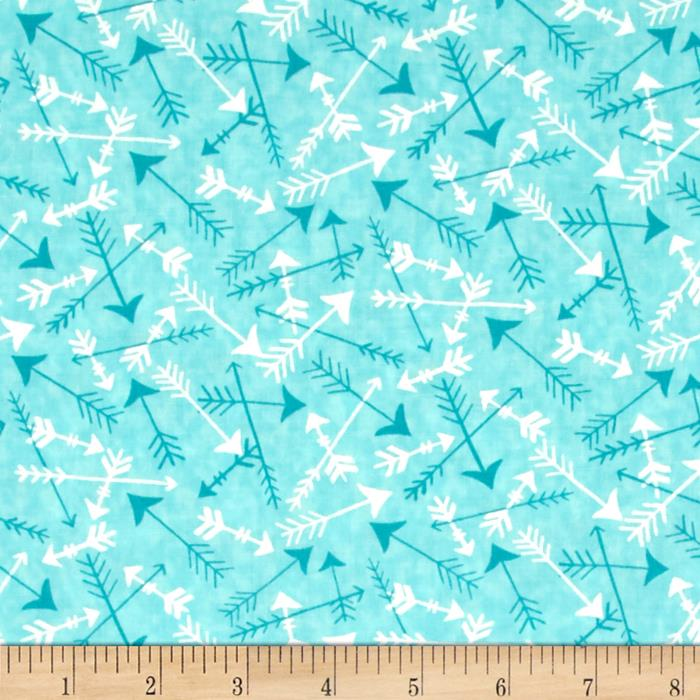 Moda Hugaboo Tossed Arrows Airplane Aqua